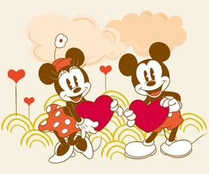 disney, minnie, and mikey mouse image