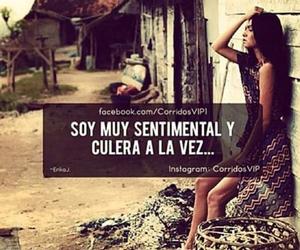 sentimental, cabrona, and culera image