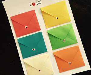 colours, envelope, and love image