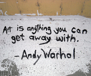 andy warhol, art, and quote image