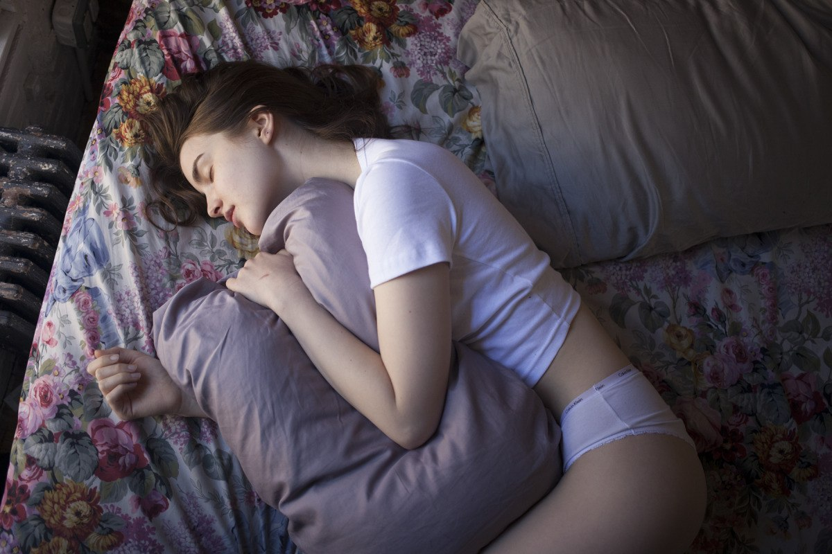 Sleeping bitch gets fucked