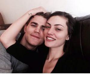 paul wesley, couple, and phoebe tonkin image