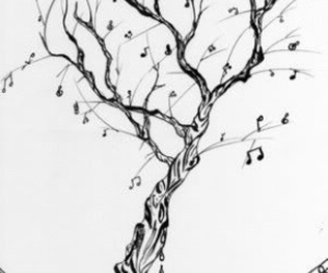 music, tree, and note image