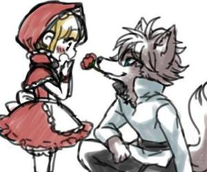little red riding hood, anime, and chibi image