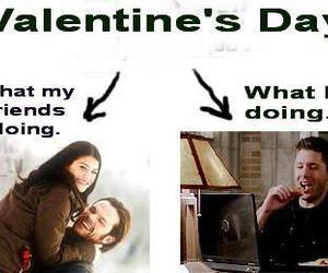 funny, supernatural, and Valentine's Day image