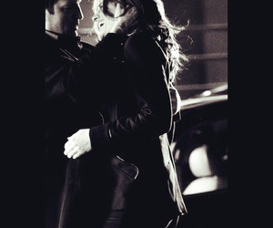black and white, castle, and kiss image