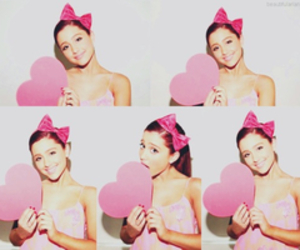 ariana grande, pink, and heart image