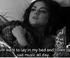 sad, music, and pretty little liars image