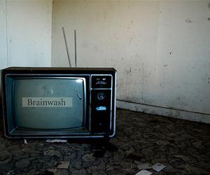 brainwash, tv, and black and white image