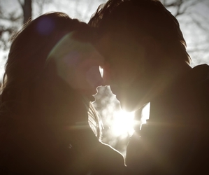 the vampire diaries, caroline, and kiss image