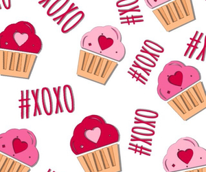 wallpaper, cupcake, and xoxo image