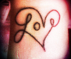effect, love tattoo, and photography image