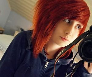 alt girl, dyed hair, and red hair image