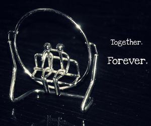 forever, heart, and love couple image