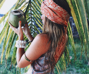 hippie, bohemian, and tropical image