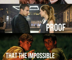 harry potter, impossible, and hunger games image