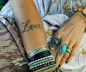 love, tattoo, and rings image