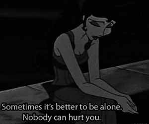 alone, disney, and black image