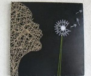 string art, string wall art, and heart string art image