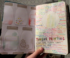 keri smith, wreck this journal, and tongue painting image