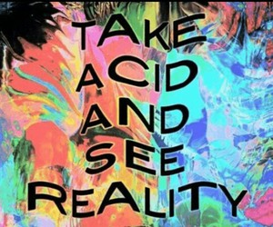 acid, reality, and drugs image