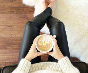 coffee, fashion, and leather image