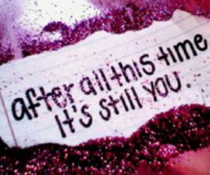 love, glitter, and quote image