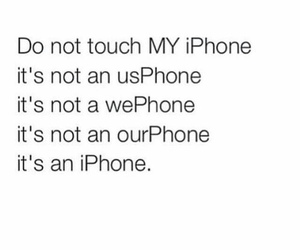 iphone, quote, and funny image
