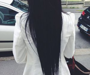 hair, black, and straight image