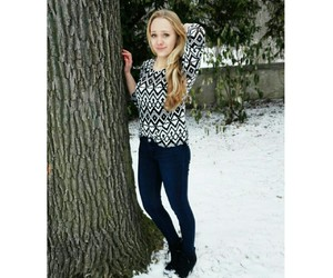 blonde, girl, and outfit image