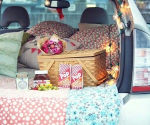 picnic, car, and nutella image