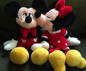 kiss, mickey mouse, and minnie mouse image