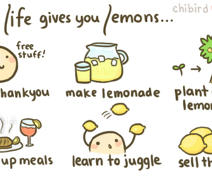lemon, life, and lemonade image