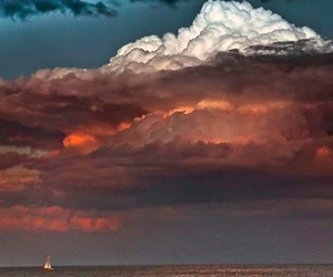 clouds, colors, and ocean image