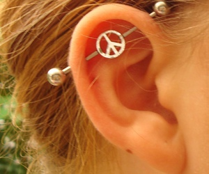 piercing and peace image