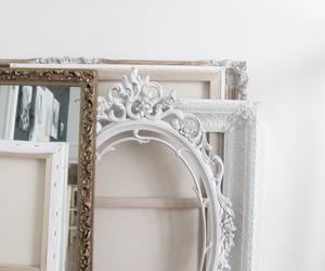 white, interior, and mirror image