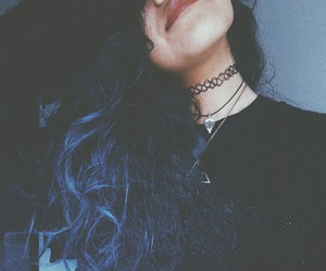 blue hair, nayeli, and mrs.cobain image