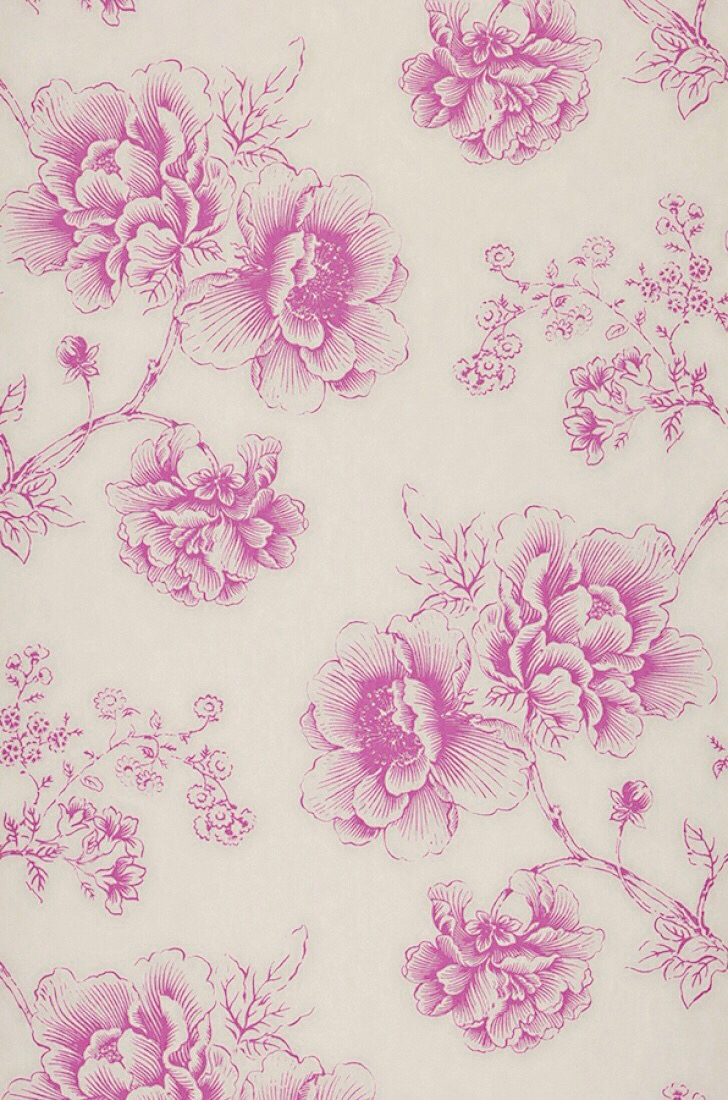 Vintage Floral Print Iphone On We Heart It