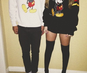 couple, boy, and mickey image