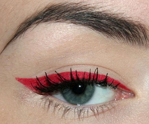 red, makeup, and eye image