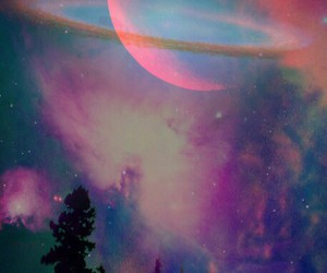 galaxy, moon, and wallpaper image