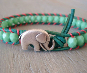 elephant, bracelet, and green image