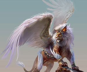lion, fantasy, and wings image