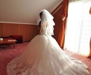 girl, wedding dress, and dress image
