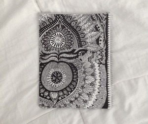 bali, black and white, and doodles image