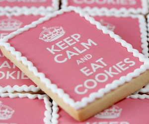 pink, Cookies, and keep calm image