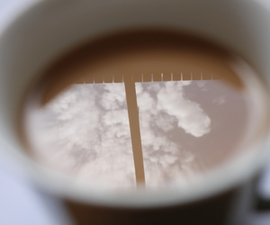 close up, clouds, and coffee image