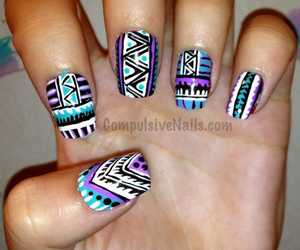 nails, purple, and tribal image