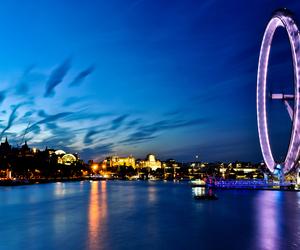 london, night, and city image
