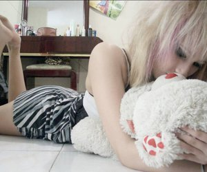 girl, cute, and teddy bear image